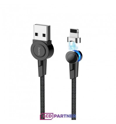 hoco. S8 magnetic adsorption lightning charging cable black