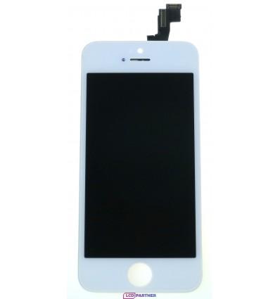 Apple iPhone 5S, SE LCD displej + dotyková plocha biela - TianMa+