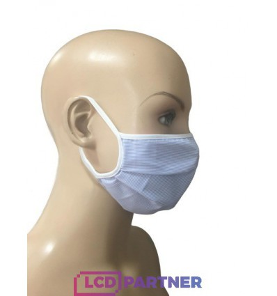 Textile protective mask mit rubber cord