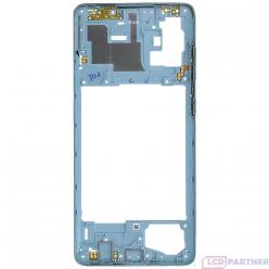 Samsung Galaxy A71 SM-A715F Rám stredový strieborná - originál