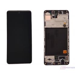 Samsung Galaxy A51 SM-A515F LCD displej + dotyková plocha + rám čierna - originál