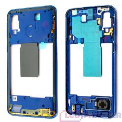 Samsung Galaxy A40 SM-A405FN Rám stredový modrá - originál
