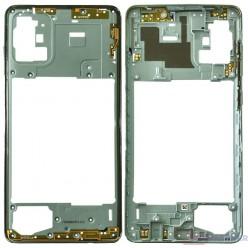 Samsung Galaxy A71 SM-A715F Rám stredový modrá - originál