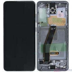 Samsung Galaxy S20 SM-G980F LCD displej + dotyková plocha + rám šedá - originál