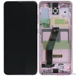 Samsung Galaxy S20 SM-G980F LCD displej + dotyková plocha + rám ružová - originál