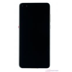 Huawei P40 (ANA-LX4, ANA-LNX9) LCD displej + dotyková plocha + rám + malé diely biela - originál