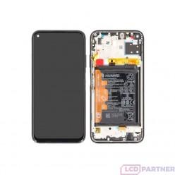 Huawei P40 Lite (JNY-L21A, JNY-L01A, JNY-L21B) LCD displej + dotyková plocha + rám + malé diely čierna - originál
