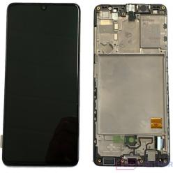 Samsung Galaxy A41 SM-A415FN LCD displej + dotyková plocha + rám čierna - originál