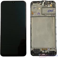 Samsung Galaxy M21 SM-M215F LCD + touch screen + front panel black - original