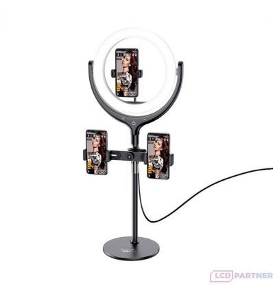 hoco. LV01 Stolný držiak so svetlom na live prenosy