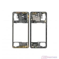 Samsung Galaxy A71 SM-A715F Rám stredový čierna - originál