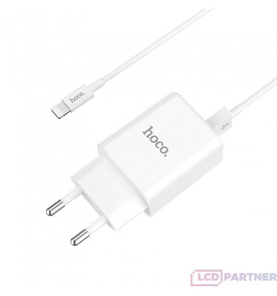 hoco. C62A dual port charger set with lightning cable white