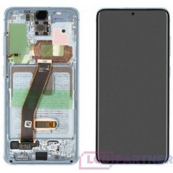 Samsung Galaxy S20 SM-G980F LCD + touch screen + front panel blue - original