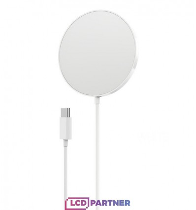 hoco. CW28 wireless magnetic fast charger 2 in 1 white