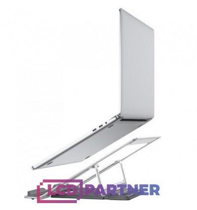 hoco. PH37 hliníkový držiak pre laptop strieborná