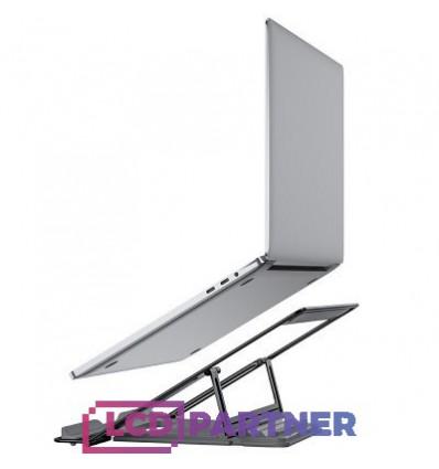 hoco. PH37 hliníkový držiak pre laptop šedá