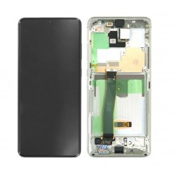 Samsung Galaxy S20 Ultra SM-G988F LCD + touch screen + front panel white - original