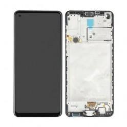 Samsung Galaxy A21s SM-A217F LCD displej + dotyková plocha + rám čierna - originál