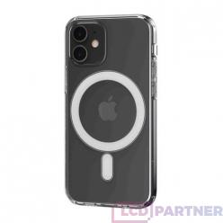 hoco. Apple iPhone 12 mini Magnetické transparentné puzdro priesvitná