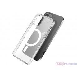 hoco. Apple iPhone 12, 12 Pro Magnetické transparentné puzdro priesvitná