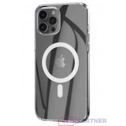 hoco. Apple iPhone 12 Pro Max Magnetické transparentné puzdro priesvitná