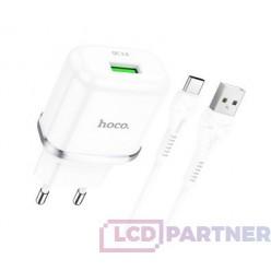 hoco. N3 single charger set type-c 18W white