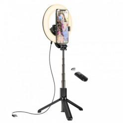 hoco. LV03 Desktop broadcast stand with fill light black