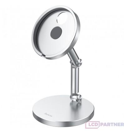 hoco. PH39 bezdrôtový magnetický nabíjací držiak pre iPhone 12 series strieborná