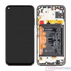 Huawei P40 Lite (JNY-L21A, JNY-L01A, JNY-L21B) LCD displej + dotyková plocha + rám + malé diely Breathing crystal - originál