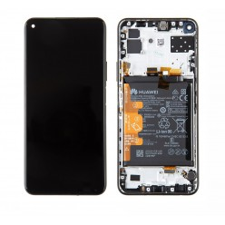 Huawei P40 Lite 5G LCD + touch screen + front panel black - original