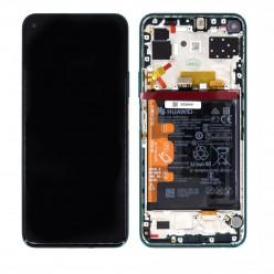 Huawei P40 Lite 5G LCD displej + dotyková plocha + rám zelená - originál