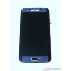 Samsung Galaxy S6 Edge G925F - LCD displej + dotyková plocha + rám černá - originál