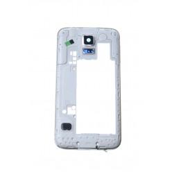 Samsung Galaxy S5 G900F stredny kryt strieborna