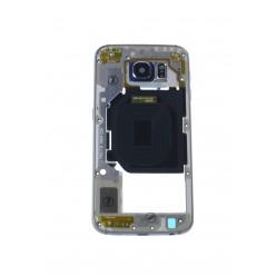 Samsung Galaxy S6 G920F - Rám stredový čierna - originál