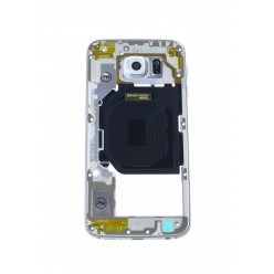 Samsung Galaxy S6 G920F - Rám středový bílá - originál