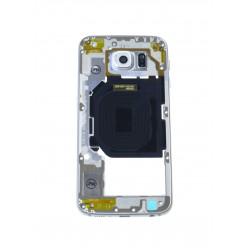 Samsung Galaxy S6 G920F - Rám stredový biela - originál