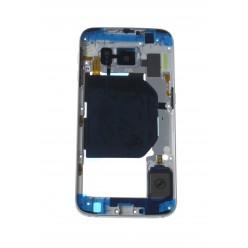 Samsung Galaxy S6 G920F - Rám stredový bledomodrá - originál