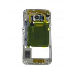 Samsung Galaxy S6 Edge G925F - Rám stredový zlatá - originál