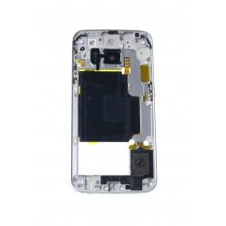 Samsung Galaxy S6 Edge G925F - Rám středový zelená - originál