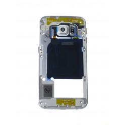 Samsung Galaxy S6 Edge G925F - Rám stredový biela - originál