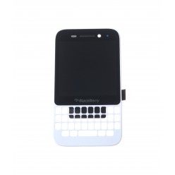 Blackberry Q5 - LCD + touch screen + front panel white