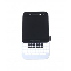 Blackberry Q5 - LCD displej + dotyková plocha + rám biela