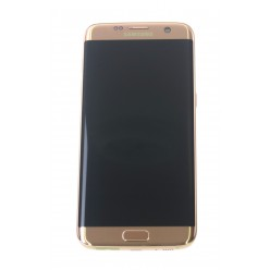 Samsung Galaxy S7 Edge G935F - LCD + touch screen + front panel pink - original