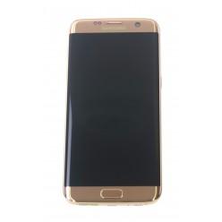 Samsung Galaxy S7 Edge G935F LCD displej + dotyková plocha + rám rúžová originál