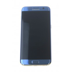 Samsung Galaxy S7 Edge G935F LCD displej + dotyková plocha + rám modrá originál