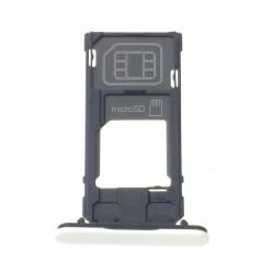 Sony Xperia X Compact F5321 - Držiak sim a microSD biela - originál