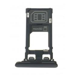 Sony Xperia XZ F8331 držiak sim a microSD čierna originál