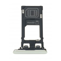 Sony Xperia XZ F8331 - Držák sim a microSD stříbrná - originál