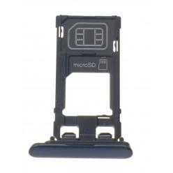 Sony Xperia XZ F8331 - Držák sim a microSD modrá - originál