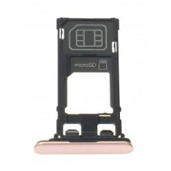 Sony Xperia XZ F8331 - Držák sim a microSD růžová - originál